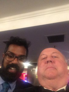 Gethin Meets comedian Romesh Ranganathan at the Recruiter Awards